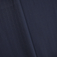 Deep Royal Blue Wool Blend Abstract Striped Dobby Suiting