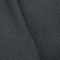 Black/Deep Gray Wool Blend Woven Twill Suiting