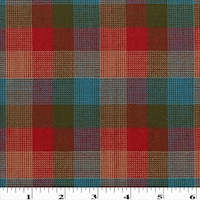 Red/Green/Teal Multi Wool Blend Woven Plaid Suiting
