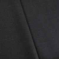 Black/Gray Wool Blend Woven Dobby Suiting