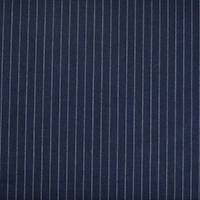 Navy/White Wool/Mohair Blend Woven Striped Suiting