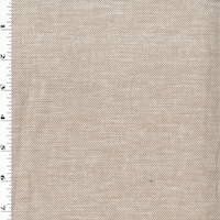 Faint Beige/White Woven Cotton Twill