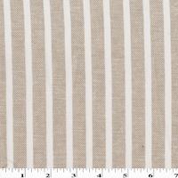 Faint Beige/White Striped Woven Cotton Twill