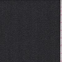 Black Herringbone Stripe Jacketing