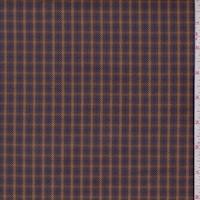 Bronze/Purple/Cobalt Plaid Twill Jacketing