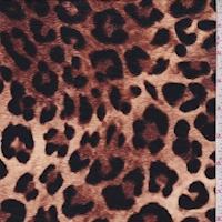 Camel/Black Leopard Print Cotton