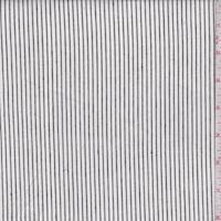 Cloud White/Black Pinstripe Oxford Shirting