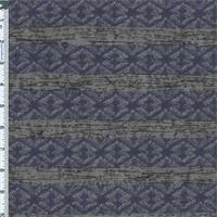 *3 YD PC--Blue/Black Stripe Jacquard Knit