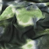 *2 YD PC--Black/Army/Sage Tie Dye Waffle Knit