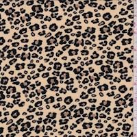 *3 1/4 YD PC--Light Tan Mini Cheetah Double Brushed Jersey Knit