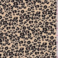 *4 YD PC--Light Tan Mini Cheetah Double Brushed Jersey Knit
