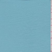 *3 1/8 YD PC--Light Turquoise Cotton Interlock  Knit