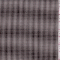 Almond/Black/Burgundy Mini Houndstooth Suiting