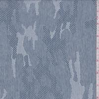 Dark Blue Camo Pique Knit