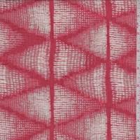 *2 3/4 YD PC--Fire Red/Sage Geometric Lawn
