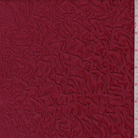 *1 1/2 YD PC--Cranberry 2-Ply Puckered Knit