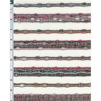 *5 1/2 YD PC--Ivory/Multi Novelty Sweater Jersey Knit