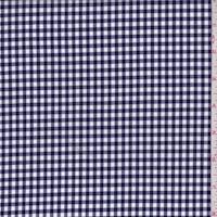 *2 YD PC--Navy/White Gingham Check Cotton Shirting