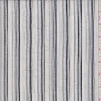 *6 YD PC--White/Grey/Black Stripe Cotton Shirting