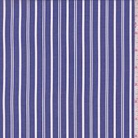 *2 7/8 YD PC--Bright Blue/White Stripe Shirting