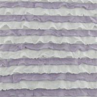 *1 YD PC--Light Purple/White Striped Ruffle Knit