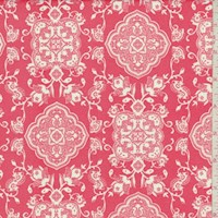 *2 YD PC--Melon Red Moroccan Double Brushed Jersey Knit