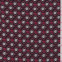 *2 YD PC--Red/Black Mini Floral ITY Jersey Knit