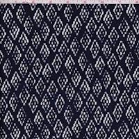 Indigo Blue Southwest Diamond Linen Blend Canvas Decor Fabric