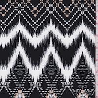 ITY Black/White Flamestitch Chevron Jersey Knit