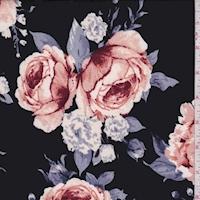 ITY Black/Blush Rose Jersey Knit