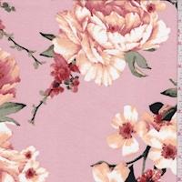 Dusty Pink/Apricot Dogwood Double Brushed Jersey Knit
