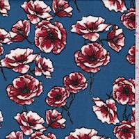 ITY Medium Blue/Ruby Poppy Jersey Knit