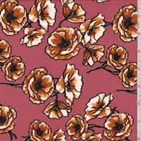 ITY Dark Salmon Poppy Jersey Knit