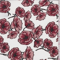 ITY White/Clay Poppy Jersey Knit