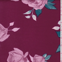 Magenta/Pink Floral Bloom Scuba Knit