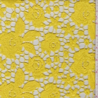 Sunshine Yellow Floral Guipure Lace