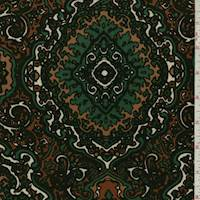 *3 1/4 YD PC--Rust/Copper Diamond Medallion Lyocell Jersey Knit