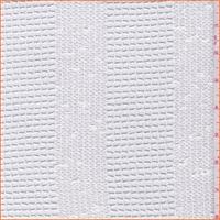 *2 1/2 YD PC--White Grid Stripe Polyester Lace