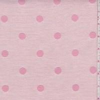 *5 3/8 YD PC--Pale Pink/Rose Polka Dot Jacquard Ottoman