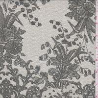 Pale Natural/Jade Floral Silk Chiffon