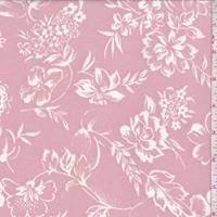 Creamy Pink/Ivory Floral Crepe Georgette