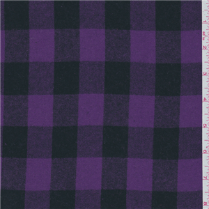 Purple Black Plaid Flannel 21534 Discount Fabrics