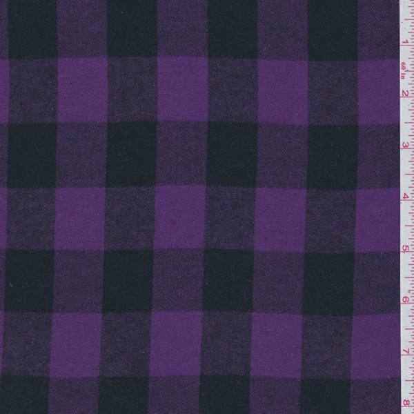 Purple Black Plaid Flannel 21534 Fashion Fabrics