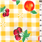 Yellow Check Oilcloth Oc003 Discount Fabrics