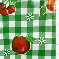 Green Check Oilcloth Roll