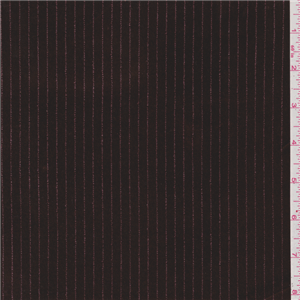 Chocolate Brown Stripe Stretch Velvet 23032 Discount Fabrics