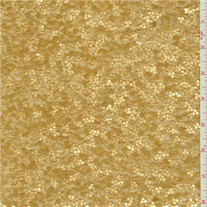 Dark Gold Beaded Silk Chiffon 23046 Discount Fabrics