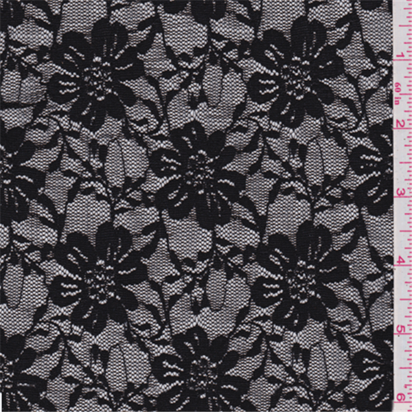Black Stretch Lace 10 Yard Bolt Shsl013 Fashion Fabrics