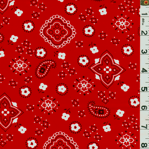 Red Bandana Print Bolt Fp0604 C1 Fashion Fabrics