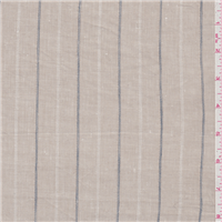 *1 1/2 YD PC--Tan/Blue Stripe Linen